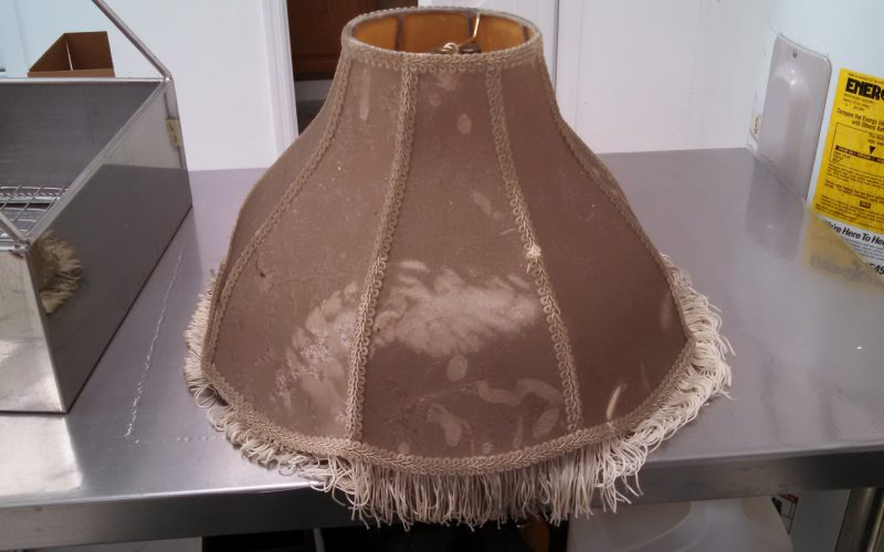 contents cleaning lamp shade before